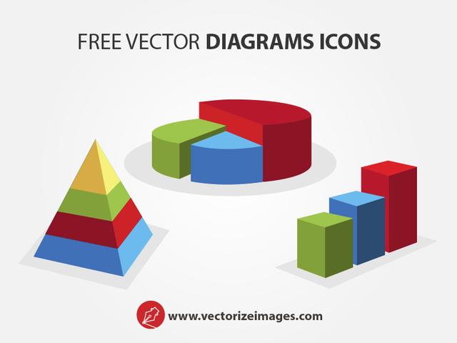 Free Clean 3D Diagram Icons