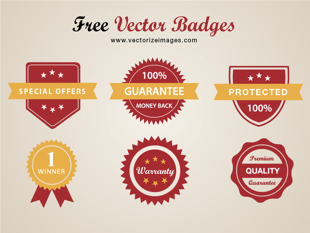 Free Classy Conceptual Red Badge Pack
