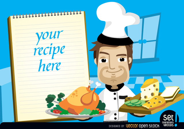 Free Chef with chicken, cheese and recipe note