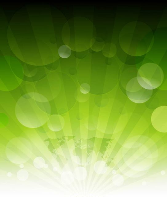 Free Green Earth Background with Bubbles