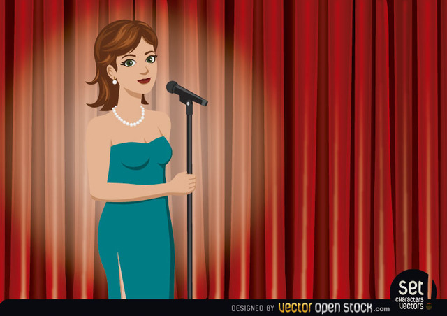 Free Girl Singer Performing in a Theater