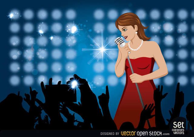 Free Girl Singing In a Concert