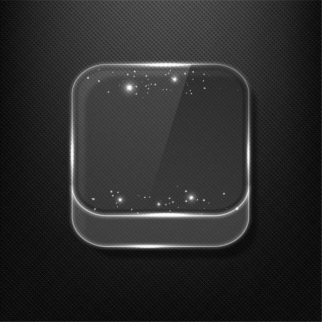 Free Fluorescent Shiny Glass App Icon