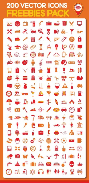 Free Honed Set of 200 Fantastic Icons