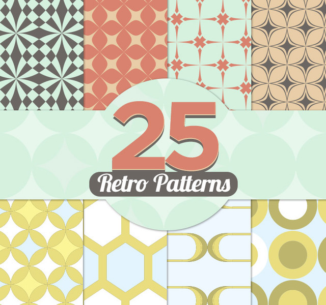 Free 25 Geometric Vintage Patterns