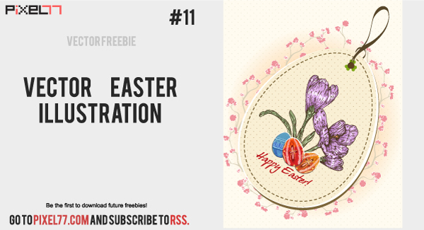 Free Flourish Vintage Easter Card