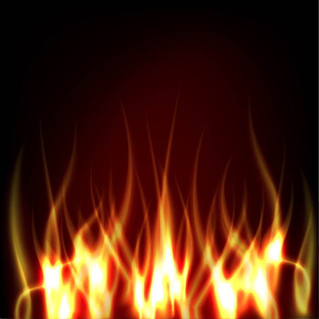 Free Realistic Fire on Darkish Background