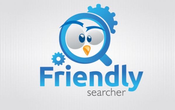 Free Vectors: Funny bird Magnifying glass Logo | Logo Open Stock