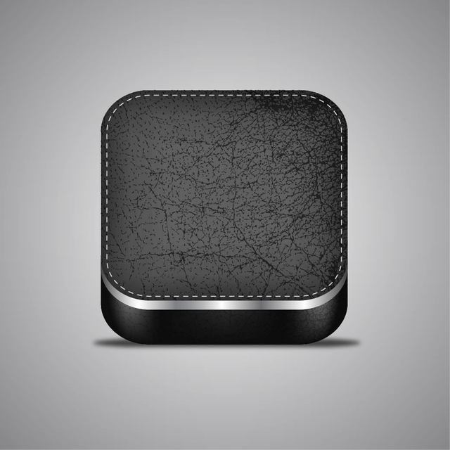 Free Stylish 3D Realistic Leather App Icon