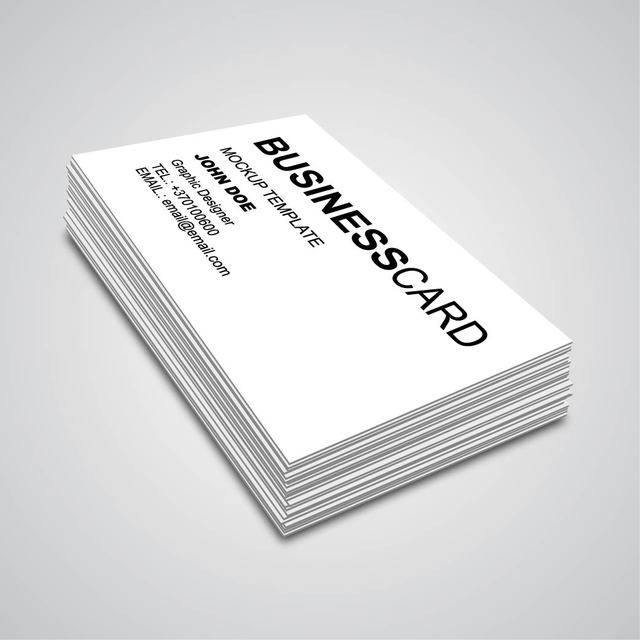 Free 3D Corner Angle Business Card Mockup