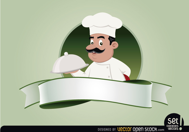 Free Restaurant Emblem with Chef