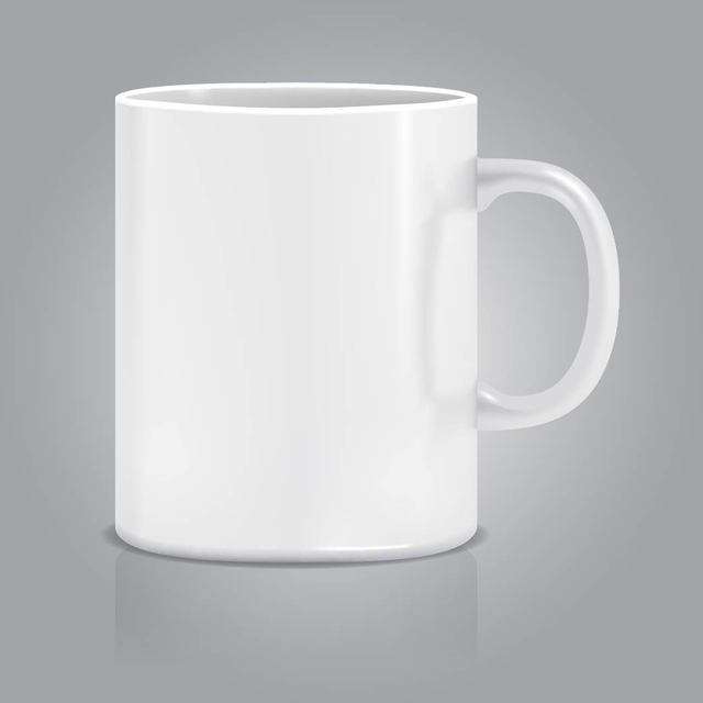 Free Realistic White Cup