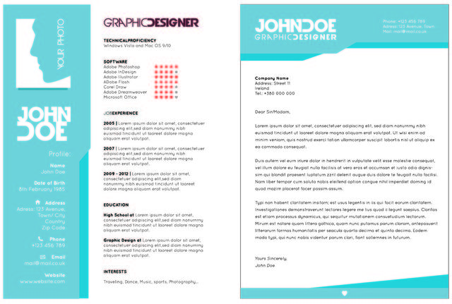 Free Creative 2 Page Resume Template