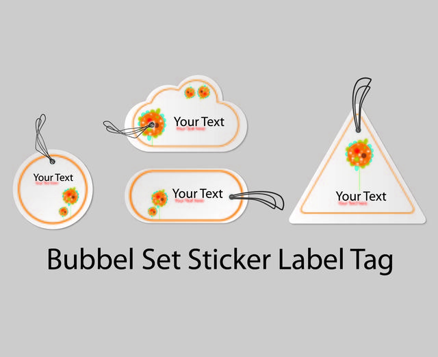 Free Bubble Shape Sticker Label Pack