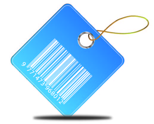 Free Blue Barcode Price Tag