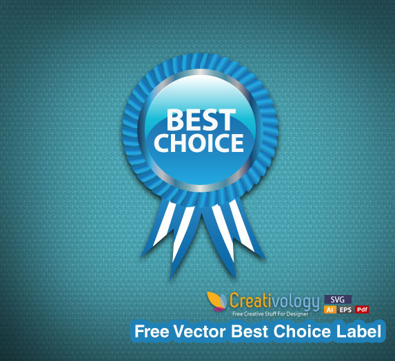 Free Glossy Best Choice Badge with Ribbon
