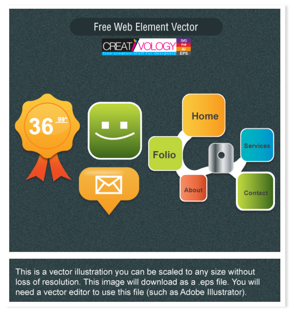 Free Creative Web Button and Element Pack