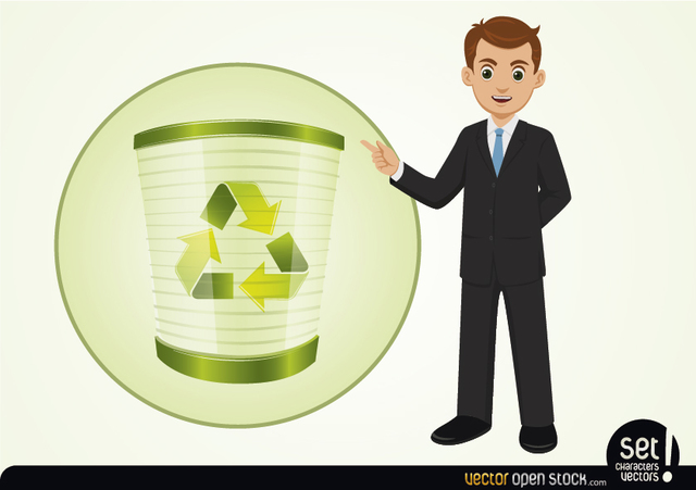 Free Businessman Presenting Recycle Process