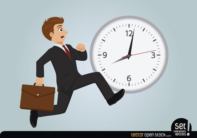 Free Businessman late running