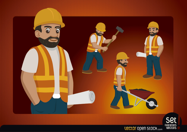 Free Construction worker character