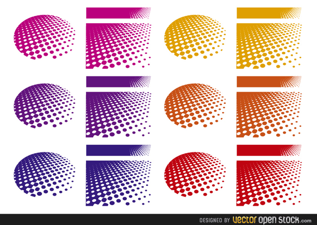 Free Halftone Backgrounds