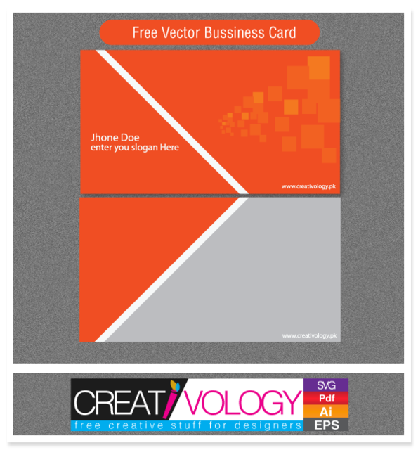 Free Abstract Front & Back Business Card Template
