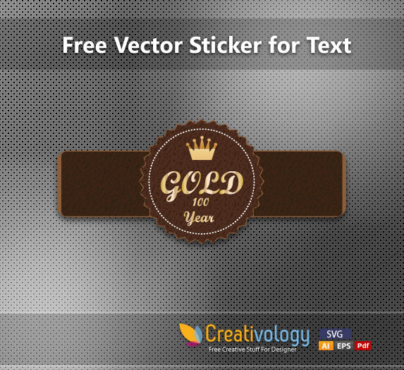 Free Vectors: Leathery Abstract Label Template | Creativology