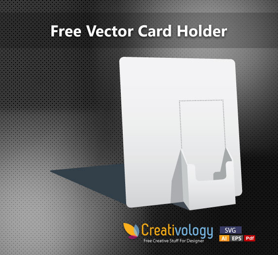 Free 3D Paper Made Card Holder