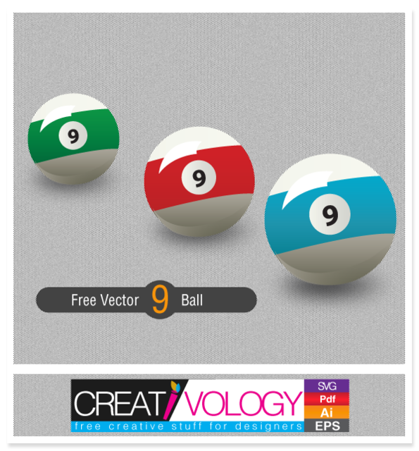 Free Three 9 Balls in Different Colors
