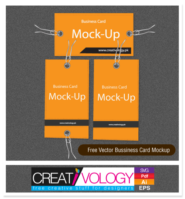 Free Simplistic Business Card Mockup