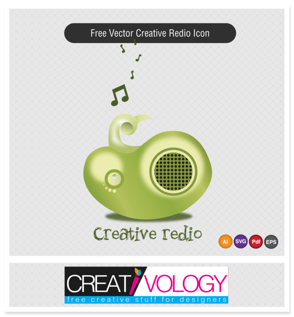 Free Creative 3D Radio Icon