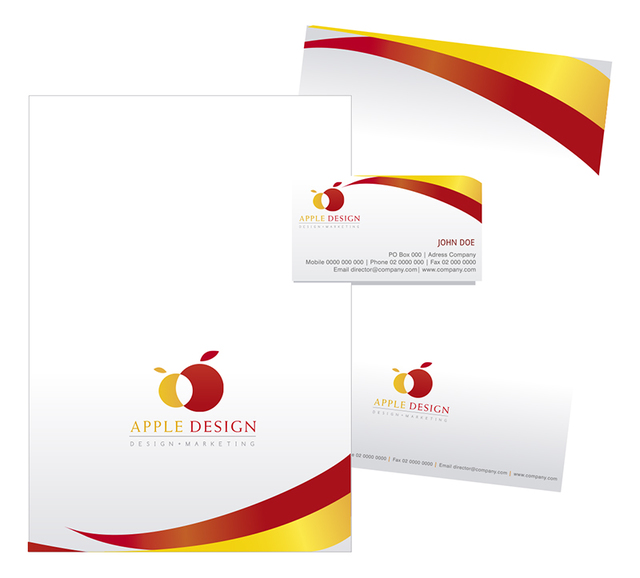 Free Vectors: Stationary design on Yellow and Red | Vector Open Stock