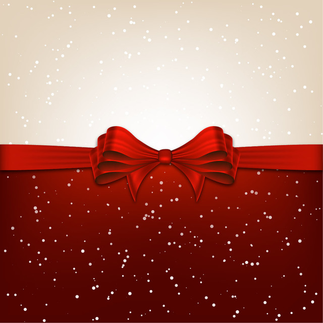Free Christmas Background Divided with Ribbon