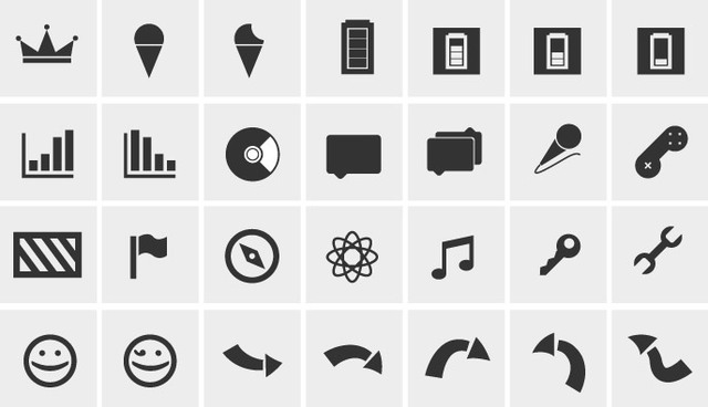 Free Simple Black & White Web Icon Pack