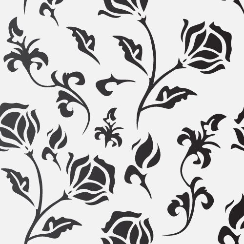 Free Flat Seamless Flourish Pattern