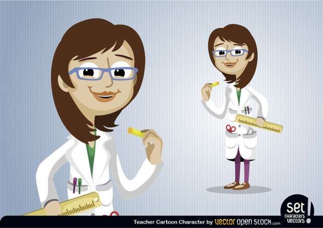 Free Teacher Cartoon Character