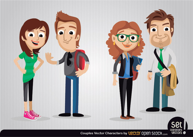 Free Couples Cartoon Characters