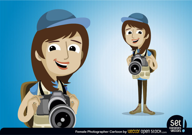 Free Female Photographer Character