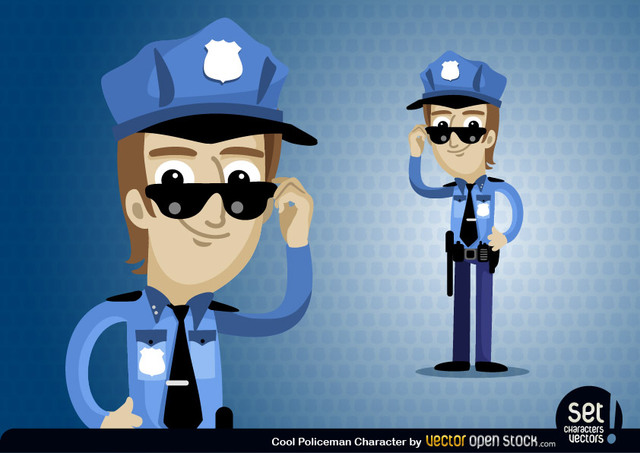Free Policeman Cartoon Character
