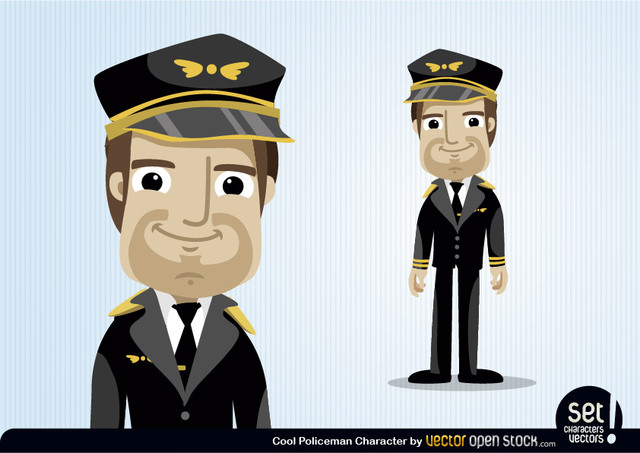 Free Pilot Cartoon Character