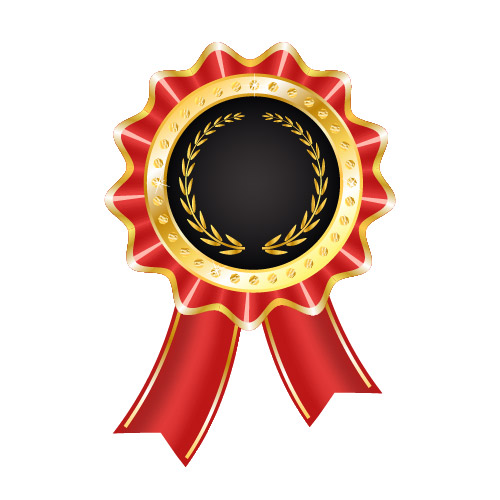 Free Glossy Award Badge with Ribbon