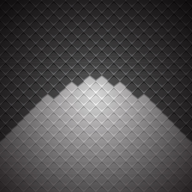Free Geometric Cubic Darkish Checker Background