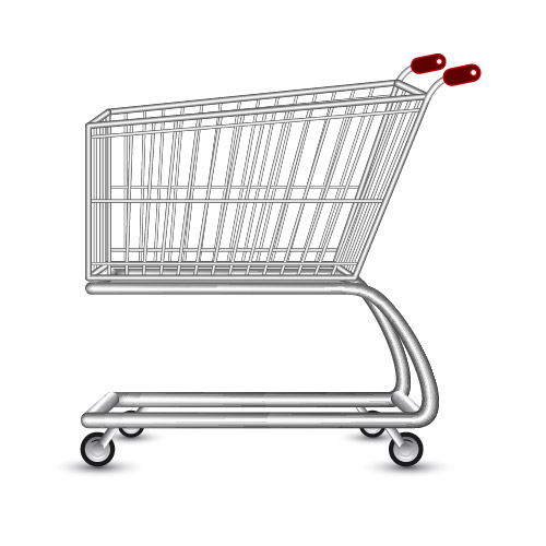 Free Realistic 3D Shopping Cart