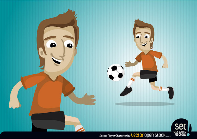 Free Vectors: Soccer Player Character | Vector Open Stock