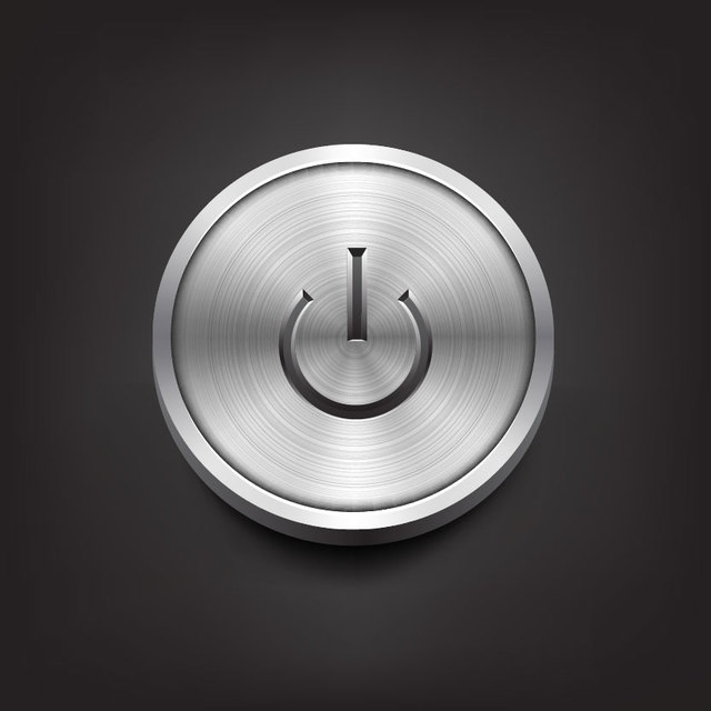 Free Realistic Grey Power Button