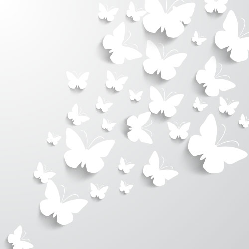 Free White Paper Cut Butterfly Pack