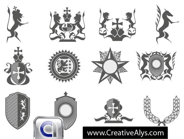 Free Heraldic Logo Element Pack
