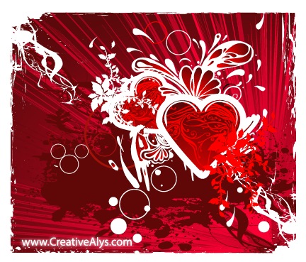 Free Vectors: Grungy Abstract Heart Background | Creativealys