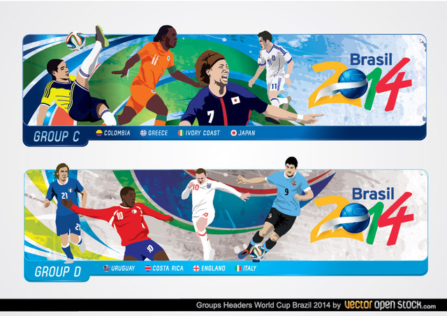 Free Brazil 2014 World Cup Headers