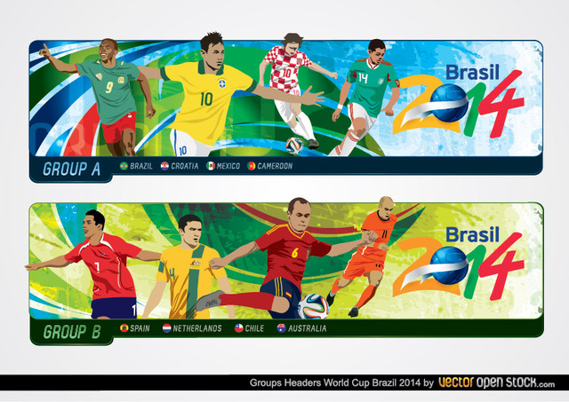 Free Brazil 2014 World Cup Group Headers